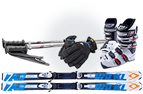 スキー用品イメージ
