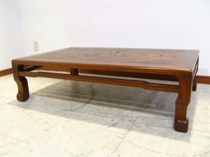 リサイクル通信-西宮市にて家具-欅の座卓をお買取させていただきました!</