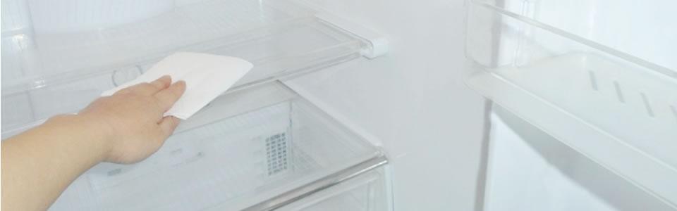 冷蔵庫を掃除