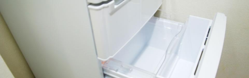 掃除された冷蔵庫
